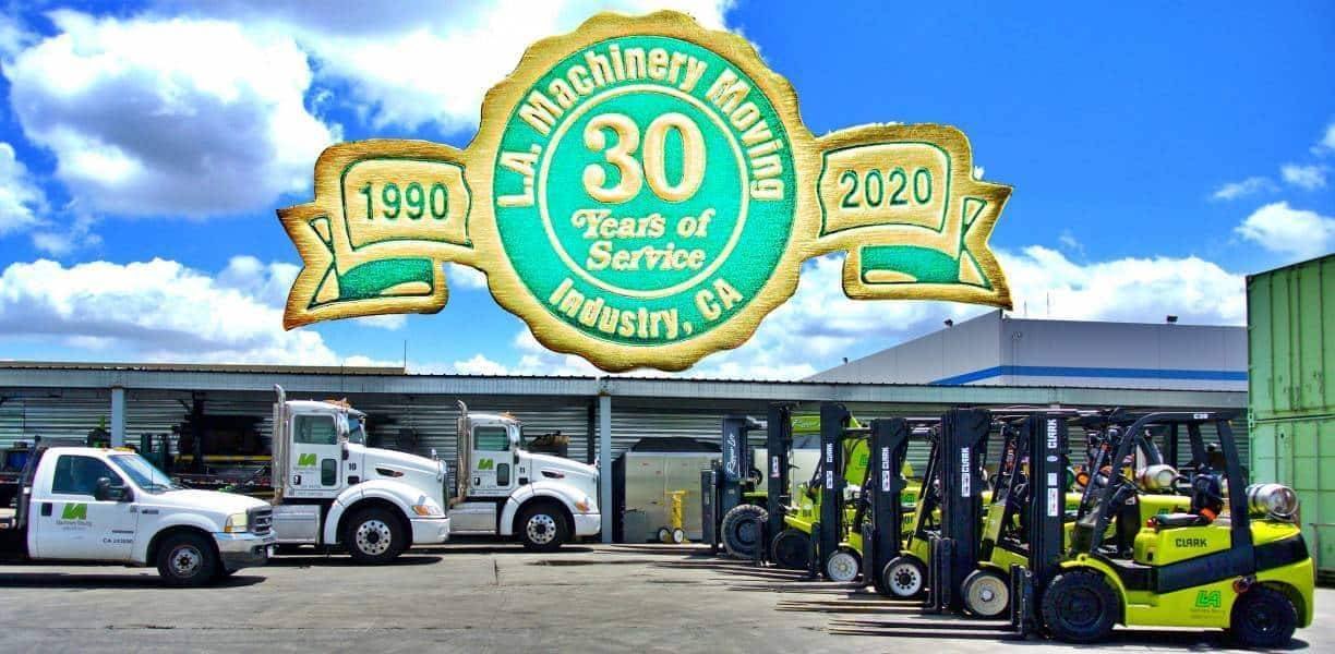 30 Year Aniversary of L A Machinery Moving